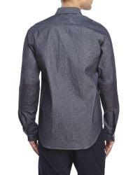 Woolrich | Blue Button-Down Two-Pocket Sport Shirt for Men | Lyst