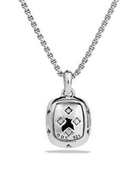 David Yurman Metallic Noblesse Pendant With Morganite And Diamonds On Chain