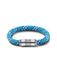 John Hardy | Station Bracelet On Multicolor Light-Blue Sailing Cord for Men | Lyst