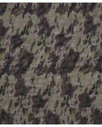 Faliero Sarti Natural Khaki Tarzan Camouflage Scarf