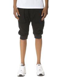 Helmut Lang Black Flat Loop Sweat Shorts for men