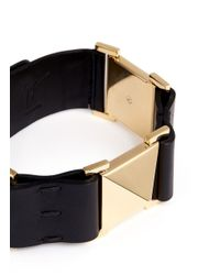 Giuseppe Zanotti | Black Large Stud Leather Choker | Lyst