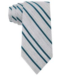 DKNY | Blue Small Satin Stripe Slim Tie for Men | Lyst