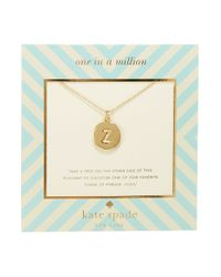 kate spade new york | Metallic One In A Million Letter Z Pendant Necklace | Lyst