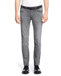 HUGO Gray Slim-fit Jeans ' 734' In A Cotton Blend With Elastane for men