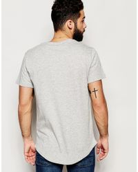 Only & Sons - Gray Longline T-shirt for Men - Lyst