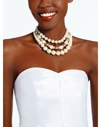 kate spade new york Natural Parlour Pearls Triple Strand Necklace