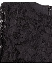 H&M Black Long Lace Dress