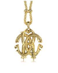 Roberto Cavalli - Metallic Rc Luxe Pendant Necklace - Lyst