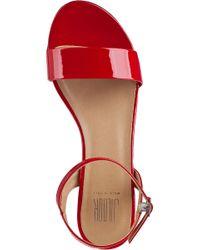 Sesto Meucci - Akela Ankle Strap Sandal Red Patent - Lyst