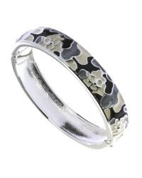 Indulgence Jewellery | Multicolor Black,white Grey Enamel Bangle | Lyst