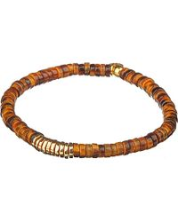 Tateossian | Multicolor Bamboo Bead Disc Bracelet | Lyst