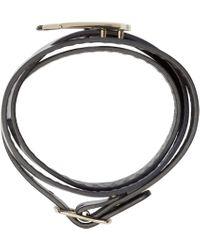 McQ   Blue Navy Leather Wrap Swallow Bracelet   Lyst
