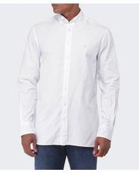 Hackett | White Slim Fit Plain Oxford Shirt for Men | Lyst