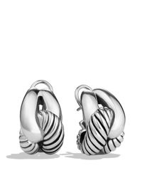 David Yurman | Metallic Woven Cable Earrings | Lyst