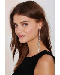 Nasty Gal - One Love Metallic Earring - Lyst