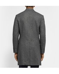 J.Crew - Gray Carpini Double-Breasted Wool-Blend Overcoat for Men - Lyst