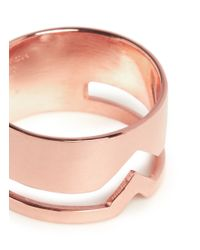 Maria Black | Metallic 'fooled Heart' Rose Gold Plated Ring | Lyst