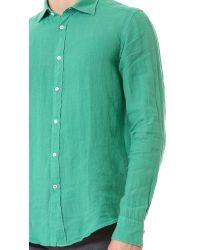 Hartford Green Slim Fit Linen Shirt for men