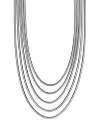 Vince Camuto | Metallic 'opposites Attract' Snake Chain Necklace - Light Silver | Lyst