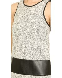 4.collective Gray Sleeveless Tweed Shift Dress - Black Multi