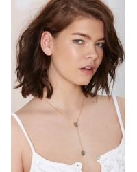 Nasty Gal | Metallic Rock With You Druzy Lariat Necklace | Lyst