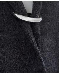 Acne Studios - Gray Dark Grey Foin Double Cashmere-blend Coat - Lyst