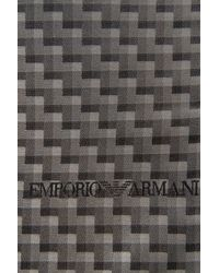 Emporio Armani - Gray Silk Blend Scarf for Men - Lyst