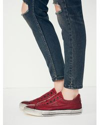 Free People | Purple Converse X John Varvatos Womens John Varvatos Burnished Canvas Low | Lyst