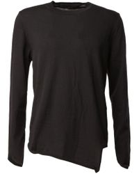 Comme des Garçons - Black Asymmetric Hem Sweater for Men - Lyst