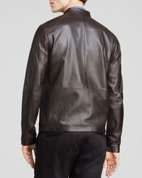 Theory Brown Arvid L Revolt Leather Jacket for men