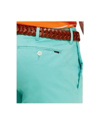 Polo Ralph Lauren | Blue Cotton Flat-front Short for Men | Lyst