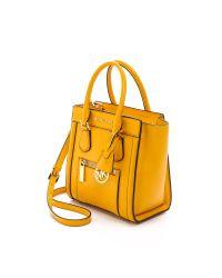 2649e882d5 Lyst - Michael Michael Kors Colette Medium Messenger Bag - Chili in ...