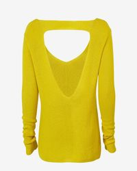 A.L.C. | Yellow Open Back V Neck Sweater | Lyst
