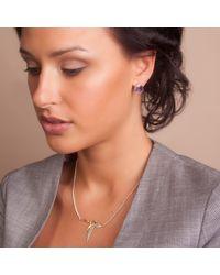 Anna Byers Metallic Little Goose Necklace