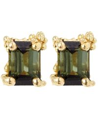 Ruth Tomlinson - Green Gold Tourmaline Stud Earrings - Lyst