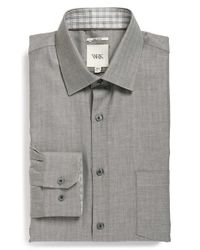 W.r.k. | Gray Extra Trim Fit Herringbone Dress Shirt for Men | Lyst
