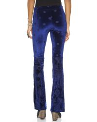Free People Blue Velvet Babybell Pants Night
