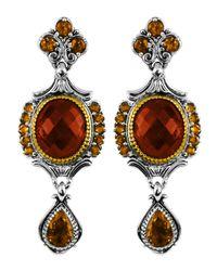 Konstantino - Metallic Sterling Silver & 18 Karat Gold Regal Earring - Lyst