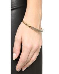 Alexis Bittar | Gray Id Bangle Bracelet - Warm Grey/gold | Lyst