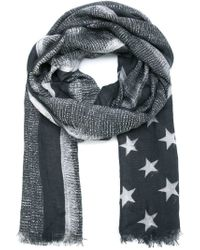 Givenchy - Gray Stars And Stripes Scarf for Men - Lyst
