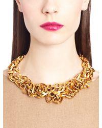 Oscar de la Renta | Metallic Russian Gold Ribbon Necklace | Lyst