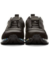 Fendi | Black And Multicolor Running Sneakers for Men | Lyst
