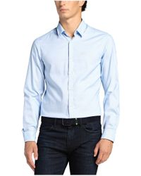 BOSS Green - Blue Regular-fit Casual Cotton Shirt 'c-buster' for Men - Lyst