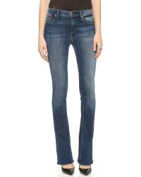 Mother - Blue High Waisted Flare Jeans - Tempted Again - Lyst