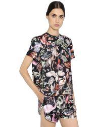 Valentino Black Printed Silk Blouse