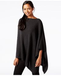 Eileen Fisher | Gray Draped Boat-neck Poncho | Lyst