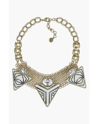Sam Edelman | Metallic Stone & Crystal Statement Necklace | Lyst