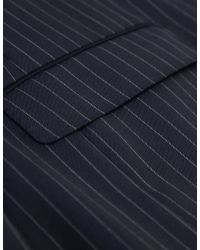 Jules B - Blue Striped Two Piece Suit for Men - Lyst