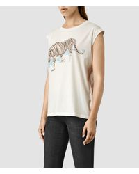AllSaints | Natural Shere Brooke Tee | Lyst